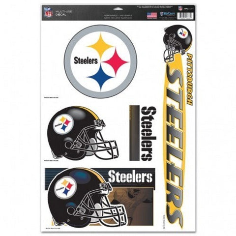 NFL Pittsburgh Steelers Ultra Decals Set of 5 By WINCRAFT