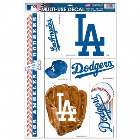 MLB Los Angeles Dodgers Ultra Decals Set of 7 By WINCRAFT Blue LA