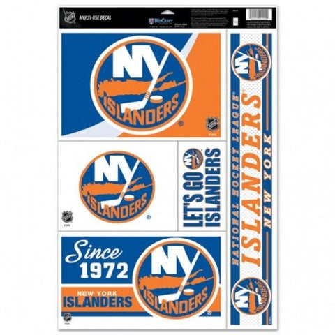 NHL New York Islanders Ultra Decals Set of 5 By WINCRAFT Since