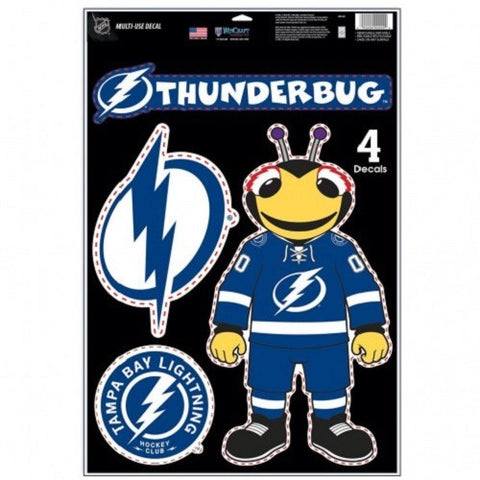 NHL Tampa Bay Lightning Ultra Decals Set of 4 By WINCRAFT