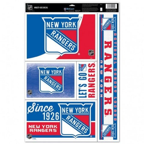 NHL New York Rangers Ultra Decals Set of 5 By WINCRAFT Since