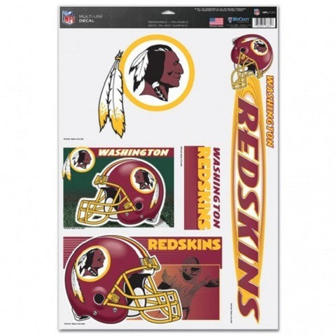 NFL Washington Redskins Ultra Decals Set of 5 By WINCRAFT
