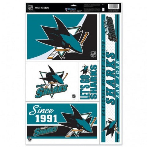 NHL San Jose Sharks Ultra Decals Set of 5 By WINCRAFT Since