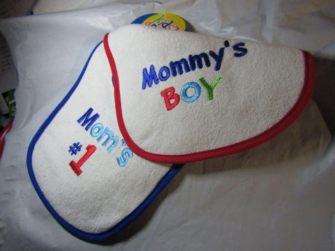 Baby Bibs Mommy's Boy and Mom's #1 by Kids 2 Grow