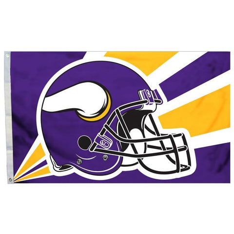 NFL 3' x 5' Team Helmet Flag Minnesota Vikings by Fremont Die