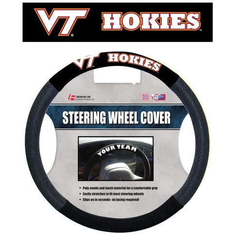 NCAA POLY-SUEDE MESH STEERING WHEEL COVER Virginia Tech