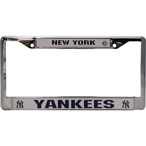 MLB Chrome License Plate Frame New York Yankees Thick Raised Letters
