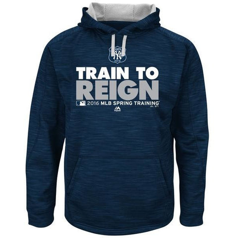 MLB New York Yankees Sweatshirt TRAIN TO REIGN 2016 Spring Training Blue Large