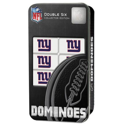 NFL New York Giants White Dominoes Game by Masterpieces Puzzles Co