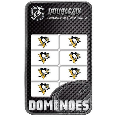 NHL Pittsburgh Penguins White Dominoes Game by Masterpieces Puzzles