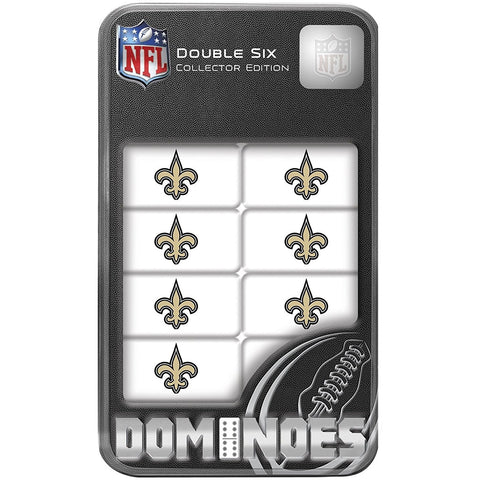 NFL New Orleans Saints White Dominoes Game by Masterpieces Puzzles Co