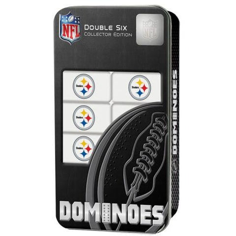 NFL Pittsburgh Steelers White Dominoes Game by Masterpieces Puzzles Co