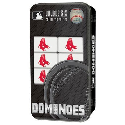 MLB Boston Red Sox White Dominoes Game by Masterpieces Puzzles