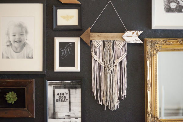 Natural Cotton Arrow Wall Hanging