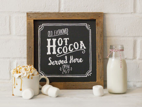 Hot Cocoa Framed