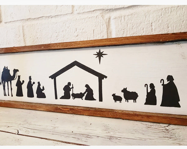 Reclaimed Wood Nativity Sign