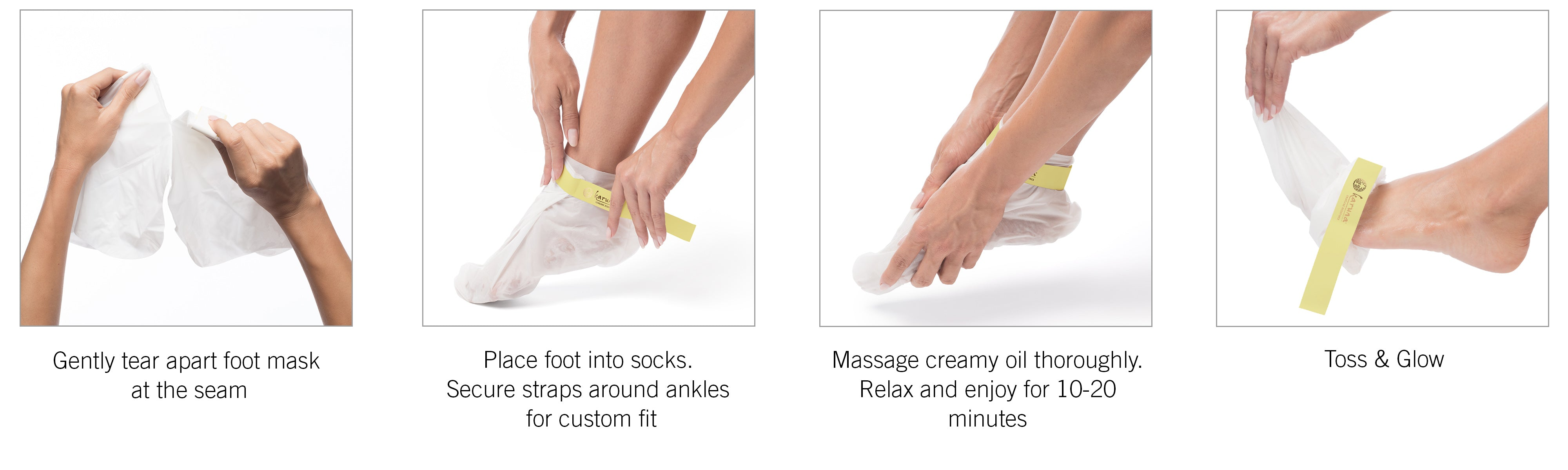 How to use your Karuna Foot Mask
