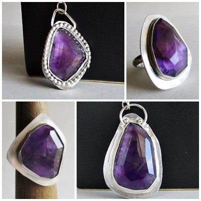 Amethyst Rings and Necklaces