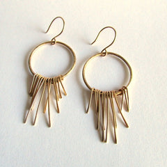 Solid Gold Fringe Earrings