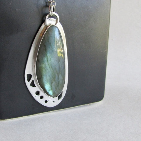 Butterfly Wing Necklace with Labradorite