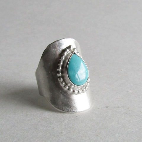 Royston Turquoise Saddle Ring
