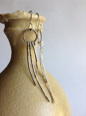 Long Fringe Earrings - Sterling Silver