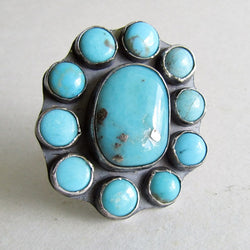 Campitos Turquoise Cluster Ring - Size 9