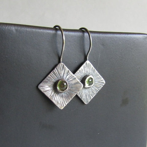 Peridot Sunburst Earrings