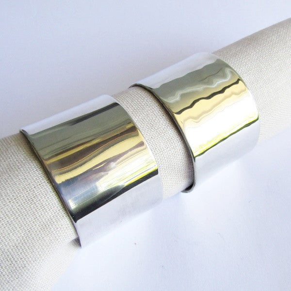 Hand Forged Sterling Silver Napkin Rings