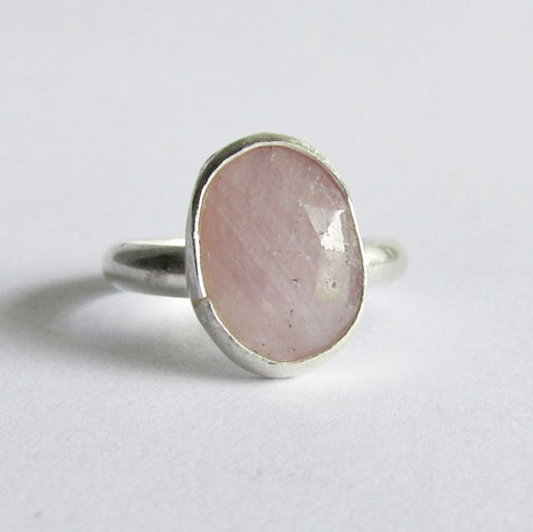 Oval Pink Sapphire Ring - Size 8