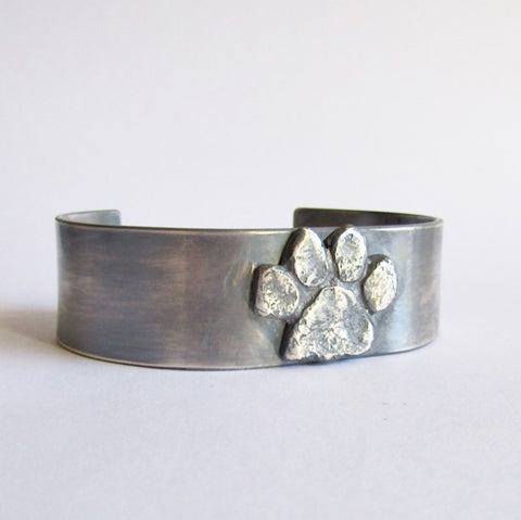 Custom Dog Paw Cuff Bracelet
