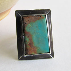 Royston Turquoise Statement Ring - Size 9.5