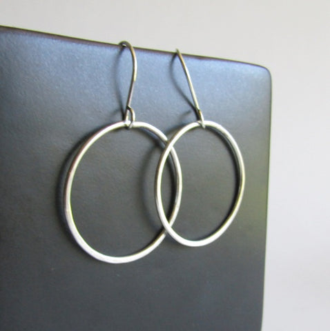 Sterling Silver Hoop Earrings - Large