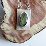 Labradorite Necklace with Hammered Edge