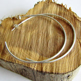 "Large Hoop Earrings - Sterling Silver - 2"" Diameter"