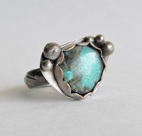 Old STock Turquoise Ring - Size 8 Ring