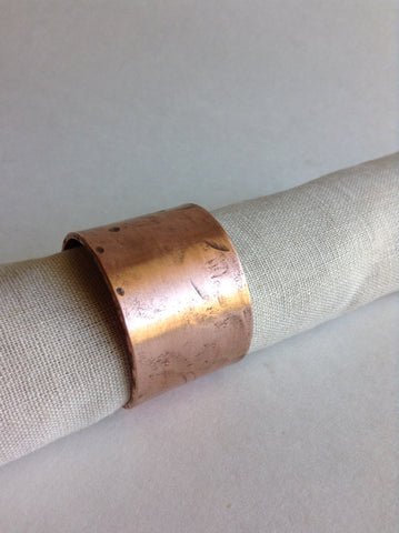 Hammered Copper Napkin Rings