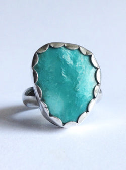 Fox Mine Turquoise Ring - Size 8 Ring
