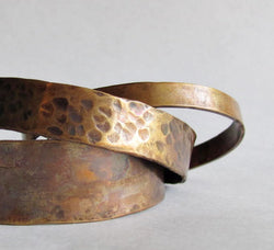 Stacking Bronze Cuff Set - 19th Anniversary Gift