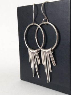 Sterling Silver Bohemian Fringe Earrings