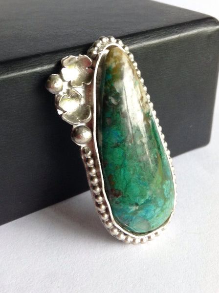 Custom Chrysocolla Statement Ring - Made to Order Ring