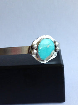 Number 8 Mine Turquoise Cuff Bracelet