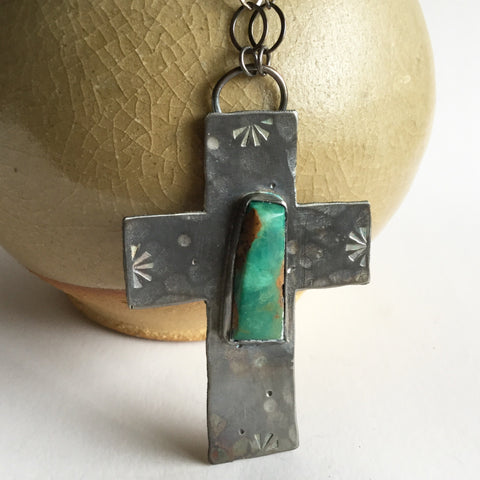 Mojave Turquoise Cross Necklace