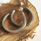 Square Wire Hoop Earrings