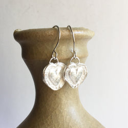 Fine Silver Heart Earrings