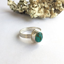 Kingman Turquoise Stacking Ring - size 5