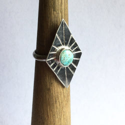Diamond Shaped Turquoise Ring