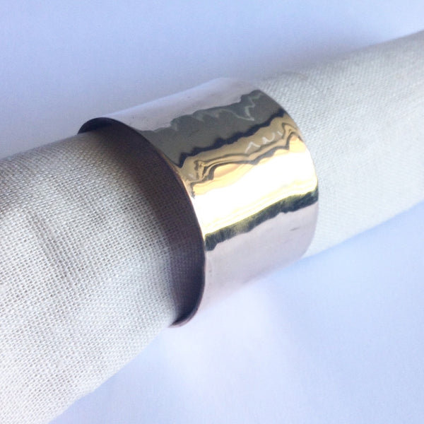 Hammered Bronze Napkin Rings