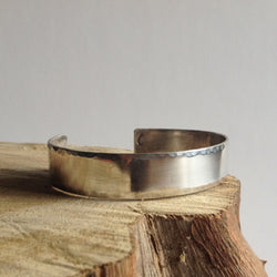 Hammered Edge Cuff Bracelet