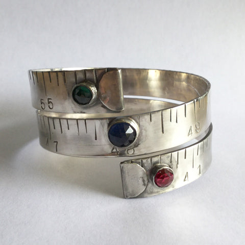Sterling Silver Tape Measure Bracelet